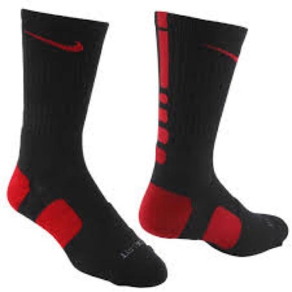 huge discount 779a6 08ad8 Nike Elite Basketball Crew Socks - Black Red